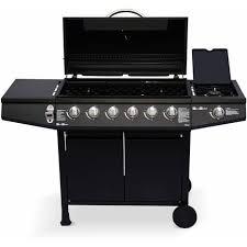 thermometre cuisine pas cher barbecue au gaz treville noir 6 brûleurs feu latéral avec