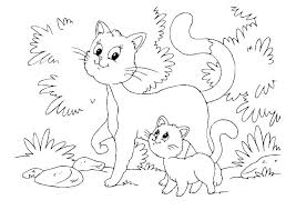 Free Kitten Coloring Page Pages Of Kittens Cats Printable Christmas Kitty