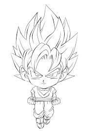 Dragon Ball Z Para Imprimir Deslumbrar Goku Para Colorear Imagen De