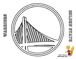 Logo Of Golden State Warriors NBA Team Pacific Division Western In Coloring Pages