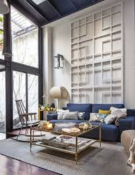 Breathtaking Living Room Design Ideas Red Sofa Rustic Narrow White Wall Decoration Dark Blue Couch Golden Frame Glass