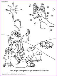 Enjoy Coloring This Picture Of The Angel Telling Shepherds About Jesus Birth