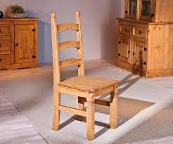 chaise en ch ne massif chaise de salle à manger rustique en pin massif chêne ciré lot de 2