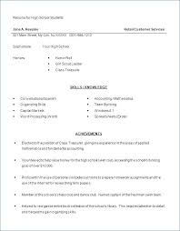 Resume Examples For Highschool Students With No Work Experience From Template High School Student