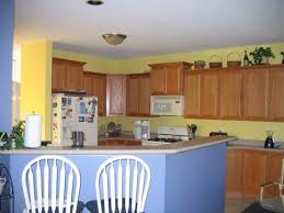 Yellow And Blue Kitchen Decorating Idea