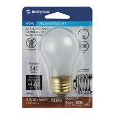 westinghouse 04002 a15 incandescent appliance light bulb 40w frosted