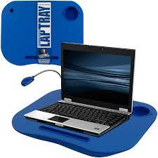 laptop lap desk portable tray with foam cushion adjustable led