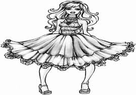 Barbie Fashion Fairy Tale Coloring Pages On Cartoon Elf