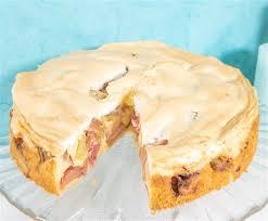 gesundes naschen rhabarber kuchen mit dinkelmehl und ohne
