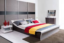 geneva contemporary grey platform queen bed lights modern with