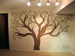 Wall Painting Tree Stencils Creative Genius Art Family Mural Painted Design