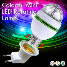 3w e27 rgb auto rotating led stage light bulb disco