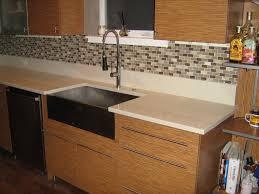 Kitchen Backsplash Ideas With Dark Wood Cabinets by Kitchen Design Ideas Dark Gray Subway Glass Tile Kitchen