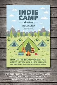 Indie Camp Festival Flyer Poster