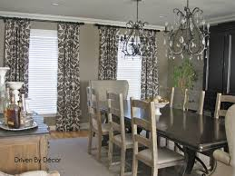 Gray Dining Room Curtains Decor Ideas And Showcase Design Within Modern