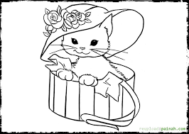 Javanese Kitten Coloring Page Free Printable Pages
