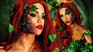 Characters For Halloween With Red Hair by Poison Ivy Halloween Makeup Tutorial Diy Costume U0026 Hair Youtube