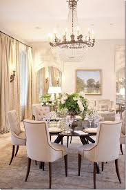 The Dining Table Set For Dinner Pair Of Trumeaus Seen Here Flanking Sofa Are From AHC Cote De Texas Beautiful Room Interior Design Ideas