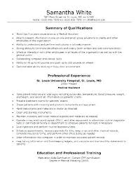 Skill Summary On Resume Examples With Personal Formal Samples For Medical Assistant