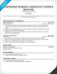 Cna Resume Objective Examples Sample For Certified Nursing Assistant