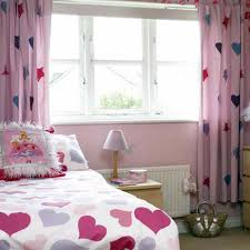 Cool Home Interior Design For Decorating Small Bedrooms Cheerful Hearts Theme With Fabric Pattern
