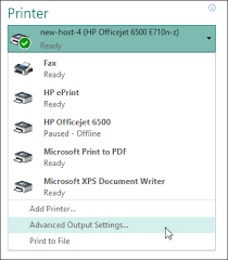 Selecting Advanced Output Settings