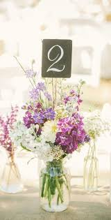 DIY Floral Wedding Table Number Centerpiece