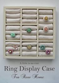 How To Make A Vertical Ring Display And The Use Of Anti Tarnish Cloth