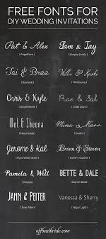 Free Wedding Invitation Fonts For DIY Invitations From Offbeatbride