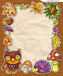 Paper Cut Border Vector Cartoon Animals And Plants