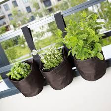 pots de fleurs en tissu pour plantes aromatiques jardin potager