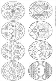 Easter Eggs Coloring Page