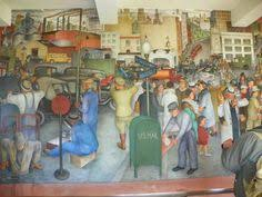 part of diego rivera s mural depicting mexico s history palacio