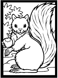 Fall Coloring Page Squirrel