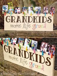 colorful grandkids make life grand wood sign photo display