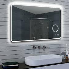 details zu led kalt warm weiß licht badezimmer spiegel dimmbar mit kosemetikspiegel 120 x70