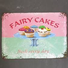 Nostalgic Art Blechpostkarte Fairy Cakes Cupcake Muffin Postkarte Metall