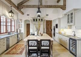 White Feminine Rustic Kitchen