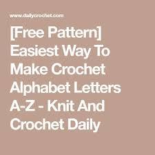 25 unique Crochet alphabet letters ideas on Pinterest