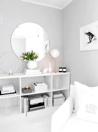 Light Grey Paint Color With White Furniture And Decor For A Clean Open Look