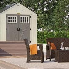 Suncast Garden Shed Taupe by Amazon Com Suncast Ss1000 Storage Seat Garden U0026 Outdoor