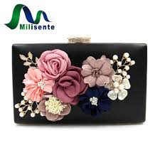milisente 7 colors women clutch bag lady flower day clutches