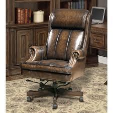 Park Living Prestige Leather Desk Chair In BlackBrown Wipe