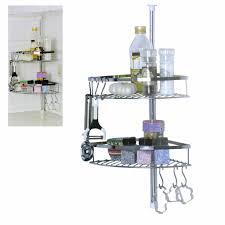 küchenregal teleskopregal küchen regal gewürzregal ablagefach küche 2 fach mit haken