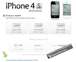 Buy No Contract SIM Unlocked iPhone 4S 4 in US