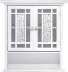 home fashions badezimmer holzwandschrank 2 türen weiß elg 527 mdf one size