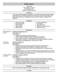 Resume For Truck Driver Best Example