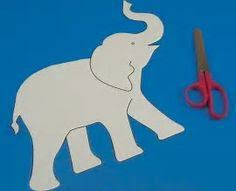 Simple elephant pattern Use the printable outline for crafts