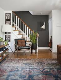 Dark Gray Accent Wall Persian Rug A Modernized Charmer For Creatives In Pennsylvania