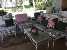 Vintage Woodard Patio Chairs by Woodard Wrought Iron Ottoman Patio Chair Ebay